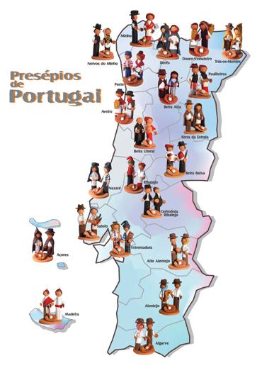 mapa de portugal para crianças Ver presépios regionais de barro em Barry4kids, sítio para  mapa de portugal para crianças